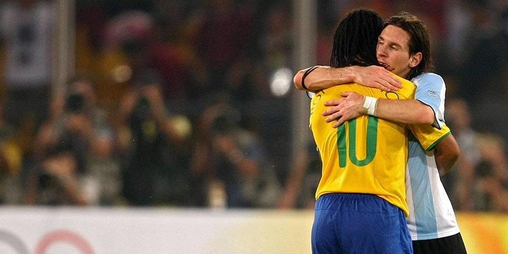 La emotiva carta de despedida de Lionel Messi a Ronaldinho