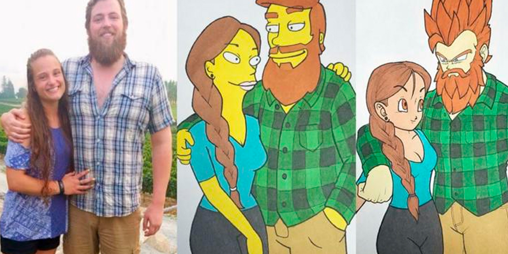 Facebook Viral: Artista dibuja a su novia de 10 diferentes formas y es viral